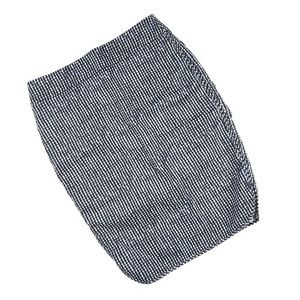 LOFT Blue and White Checkered Pencil Skirt